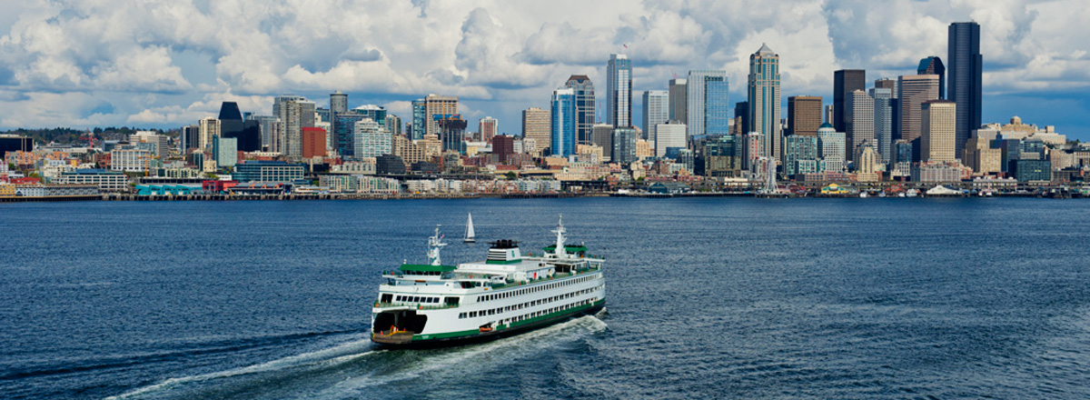 Ride the ferry from Bainbridge to Seattle
